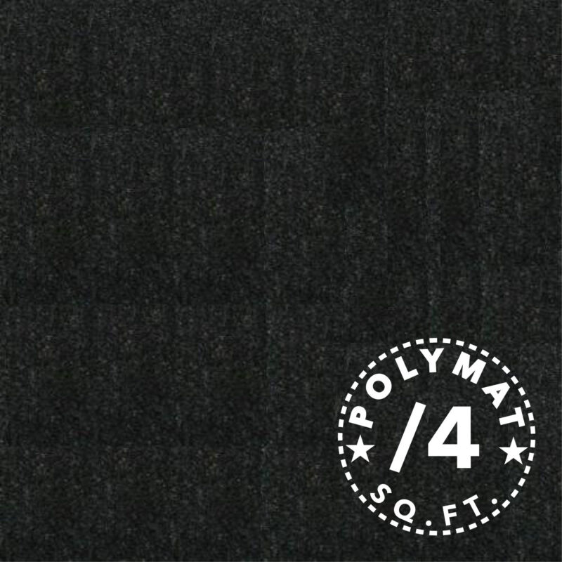 1ftx4ft BLACK GUITAR , SOUND EQUIPMENT CASE LINER latex backed Polymat FABRIC