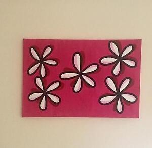 Flower wall canvas Morayfield Caboolture Area Preview