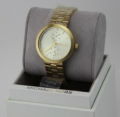 NEW AUTHENTIC MICHAEL KORS GARNER CHRONOGRAPH GOLD LADIES WOMEN'S MK6408 WATCH
