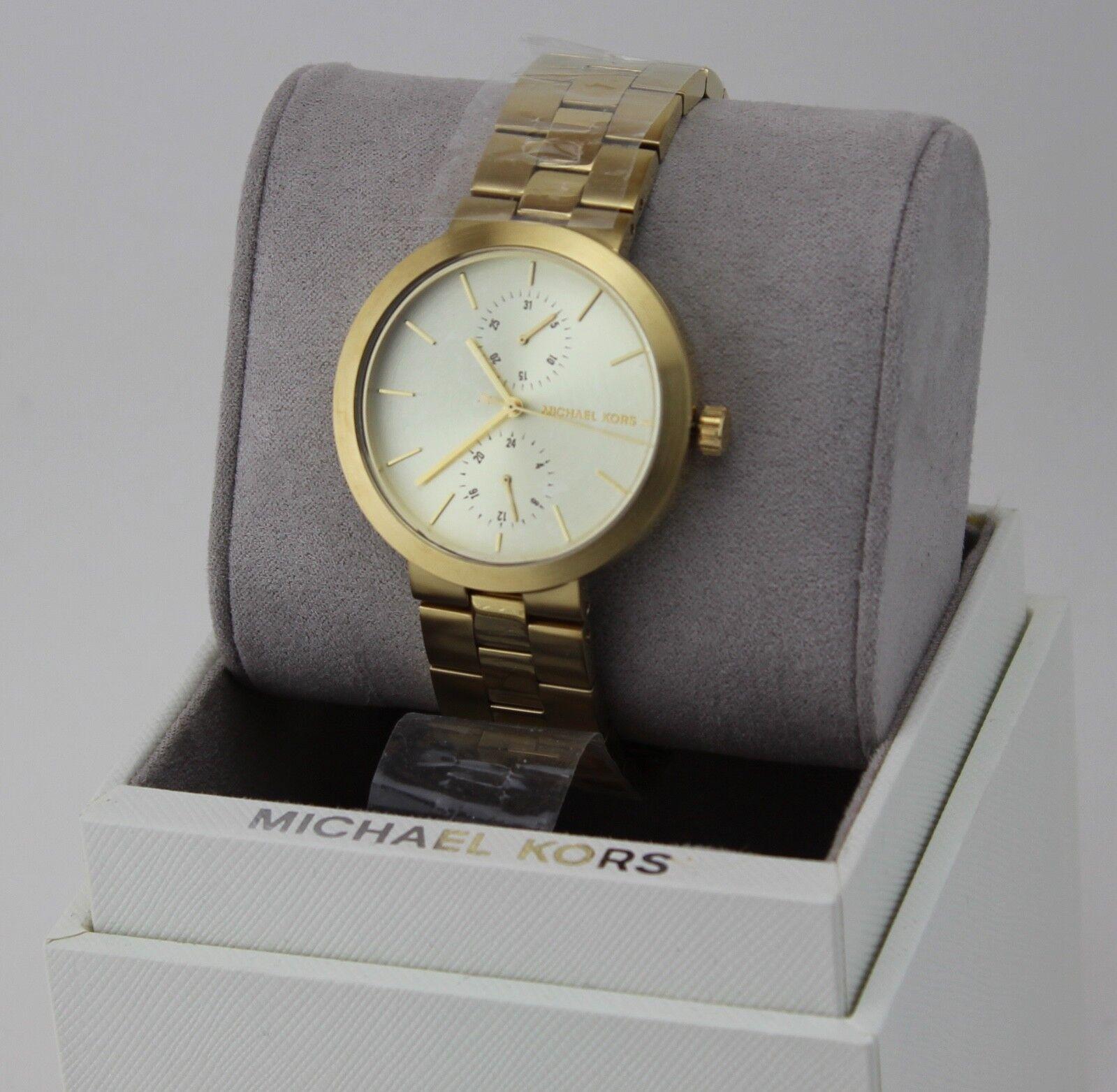 garner goldtone multifunction watch