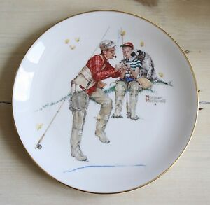 1980 LIMITED EDITION SUMMER - TROUT DINNER NORMAN ROCKWELL PLATE