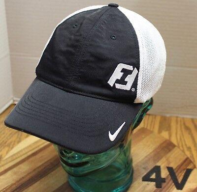 Nike First Interstate Bank Hat Black White Osfm Embroidered Vgc 4V