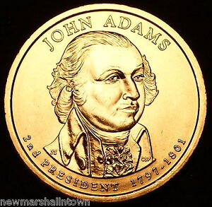 2007-D-John-Adams-Presidential-Dollar-Position-B-From-U-S-Mint-Roll