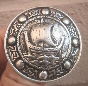 Silver-Scottish-Iona-Celtic-Viking-Ship-Brooch-Robert-Allison-1955-Chester