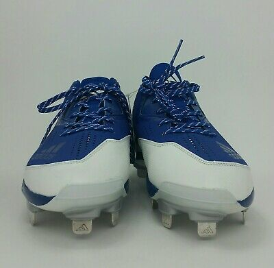 differently feb7a 7e73c Adidas Power Alley 4 Metal Baseball Cleats Men s Size 11 Royal Blue  White