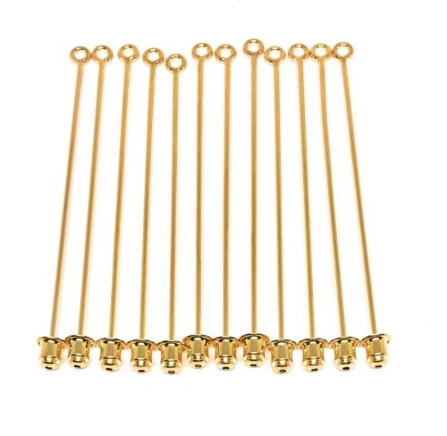 gold plated stick pins with clutch for hat or lapel