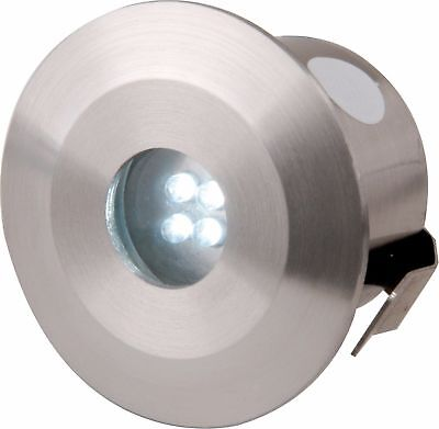 Knightsbridge IP44 13A 4x Stainless Steel LED Integrated Blue Decking Lights