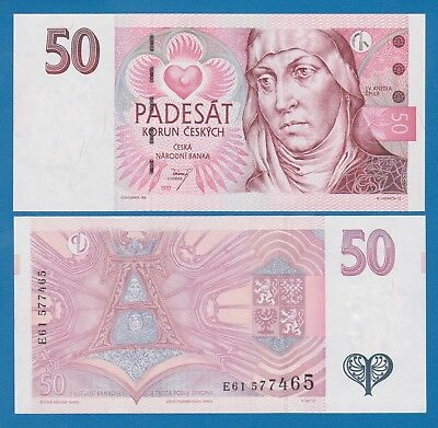 Czech Republic 50 Korun 1997 P 17 UNC Low Shipping! Combine FREE!