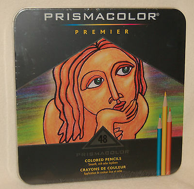 Prismacolor Premier 48 Colored Soft Core Pencils In Tin Box   Artist Quality