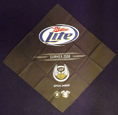 NEW Harley Davidson Motorcycle 105th Anniversary Miller Lite Bandana - Milwaukee