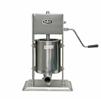 Kws Commercial Sausage Stuffer Maker St-10l 22lb Heavy Duty Gear System