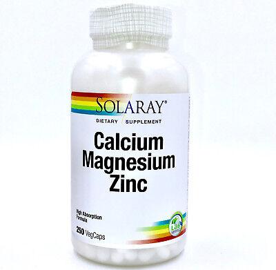 Magnesium 250 Capsules (Solaray - Calcium, Magnesium, Zinc, 250 Vegetarian Caps - Free Shipping )