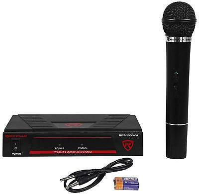 Rockville RWM1000VH VHF Wireless Single HandHeld Microphone Mic System