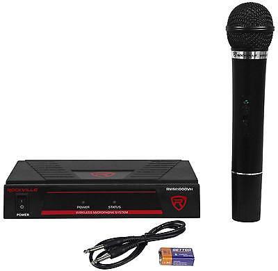 Rockville RWM1000VH VHF Wireless Single HandHeld Microphone Mic System