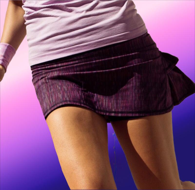 LULULEMON Pace Setter Tennis Run Skirt Multicolor Space Dye cherry sz. 6 Reg