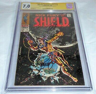 Nick Fury Agent of S.H.I.E.L.D. #6 CGC SS Signature Autograph STAN LEE STERANKO