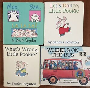 Set of 4 board books- toddler favourites