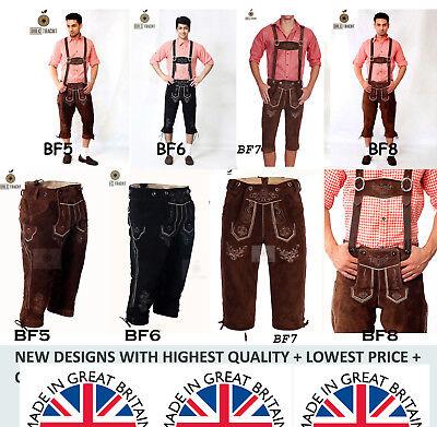 UK STOCK OKTOBERFEST SALE BEST SELLING CLASSIC BAVARIAN LEDERHOSEN   - Best Selling Kostüm