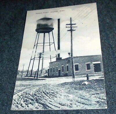 For sale Water Tower & Power Plant, Wadena Minnesota Vintage Postcard