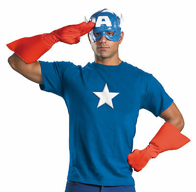 Capitan America Kit da Uomo Adulto Costume Luglio 4th Supereroi Eroe Festa a