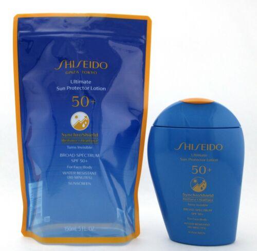 Shiseido Ultimate Sun Protector Lotion SPF50+ Synchro Shield 150 ml./ 5.0 oz.New