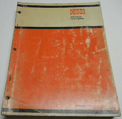 Case 970 Agri-king Tractors Oem Factory Parts Catalog No. 1117