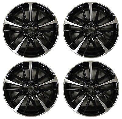 "19"" Toyota Camry 2018 2019 Factory OEM Rim Wheel 75222 Black Machined Full Set"