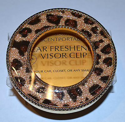Cheetah Bath - BATH BODY WORKS CHEETAH ANIMAL PRINT SCENTPORTABLE HOLDER VISOR CLIP CAR SPARKLY