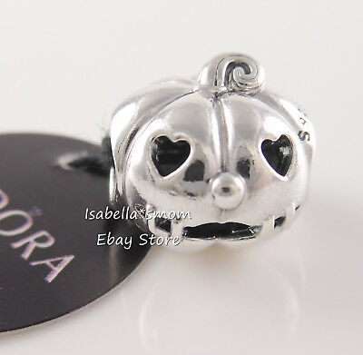 SWEET PUMPKIN Authentic PANDORA Silver HALLOWEEN Charm 797596 NEW w TAG & POUCH!