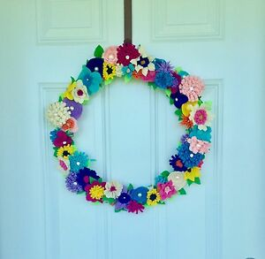 Hand Crafted Summer Flower Wreath