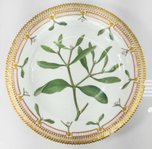 Antique Danish Royal Copenhagen Flora Danica Gilt Dinner Plate Viscum Allum L