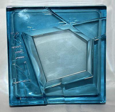 Kent Zigaretten Tabak Aschenbecher Blau Glas Quadratisch Vintage 1940&50er NEU