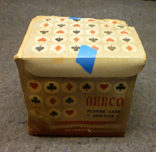 Vintage ARRCO Automatic Playing Card Shuffler - 2 D Cell - TESTED - Japan
