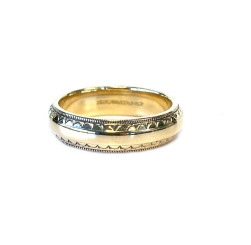 Vintage 14kt Yellow Gold Artcarved Wedding Band Size 6