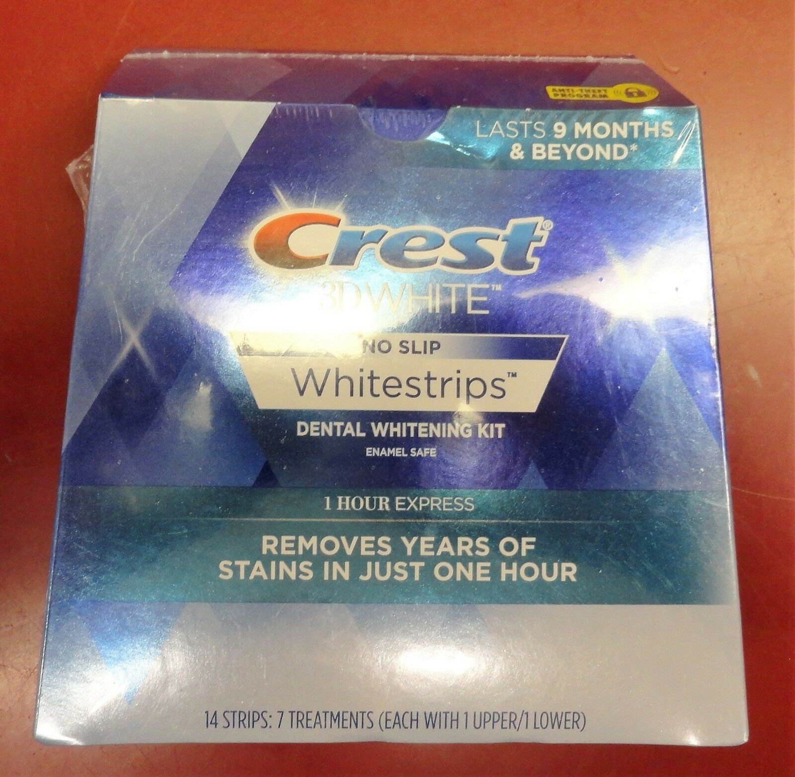 Crest 3D WHITE No Slip Whitestrips 1 HOUR EXPRESS 14 Strips.