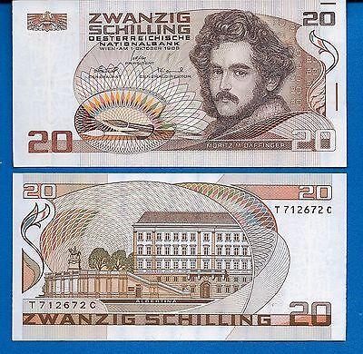 Austria P-148 Twenty Kronen Year 1986 Uncirculated Banknote Pre-Euro