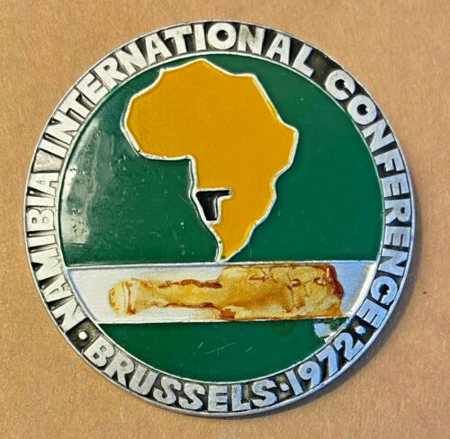 Namibia SWAPO Independence Movement Conference in Brussels 1972 lapel pin badge