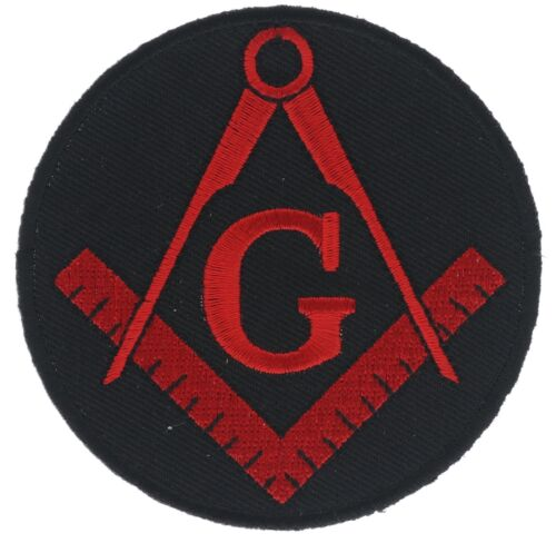 Mason Masonic Red Black 3 inch Square and Compass Patch IVAN4290 F1D10HH