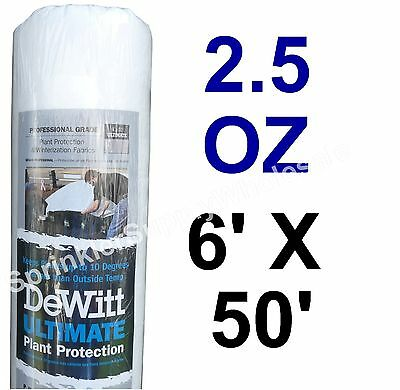 (DeWitt Ultimate 6'x50' 2.5oz Frost Freeze Cloth Blanket Ultimate650 Protection)