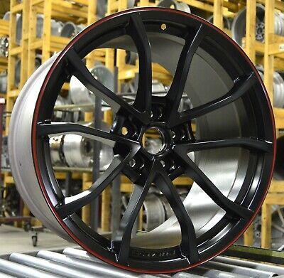 """20"""" Chevrolet Corvette 2012 Factory OEM 5539 REAR FITMENT Red Stripe"""