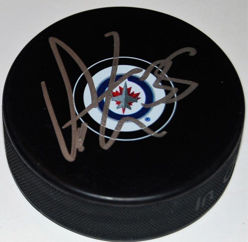 STEVE MASON signed (WINNIPEG JETS) autographed souvenir hockey puck W/COA