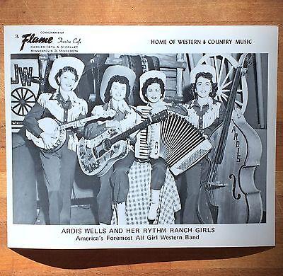 Ardis Wells / Rhythm Ranch Girls press photo • Mpls Flame Cafe