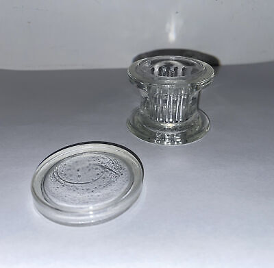 Aht Co. Vintage Glass 4 Slide Staining Jar Lab Apothecary Chemist Made In Usa -g