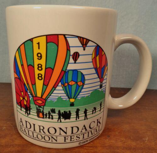 Early 1988 Ceramic CUP Adirondack Balloon Festival LAKE GEORGE
