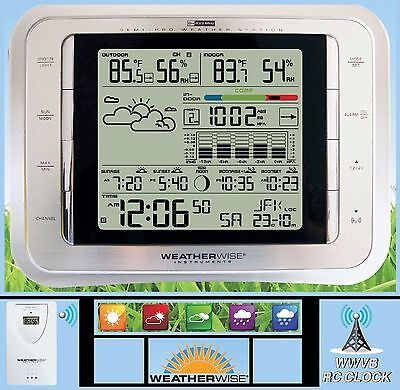 Semi Pro Wireless Weather Station  Acurite Forecast  Moon Sun Rise  Color Meter