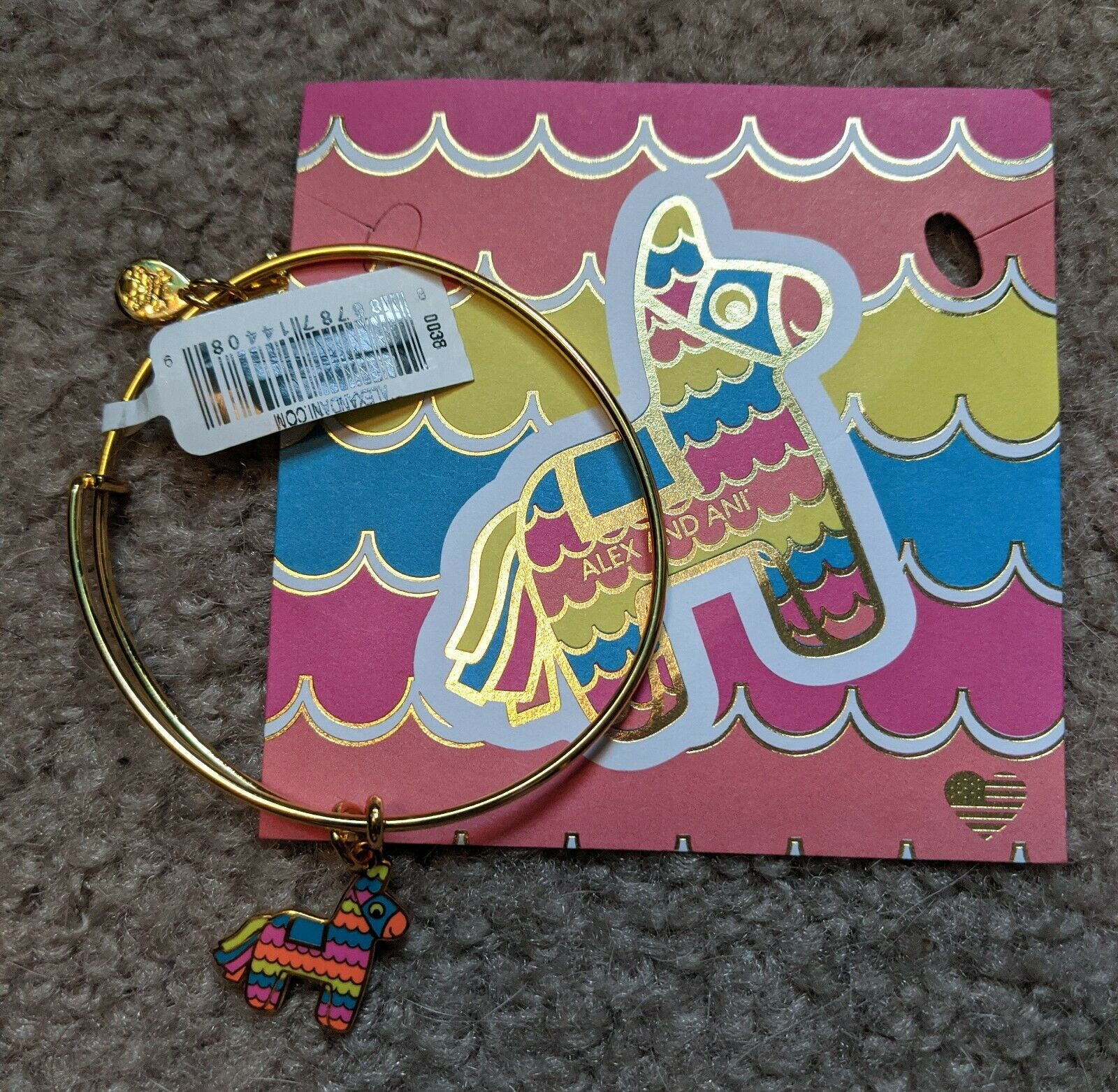 pinata bangle bracelet shiny gold new