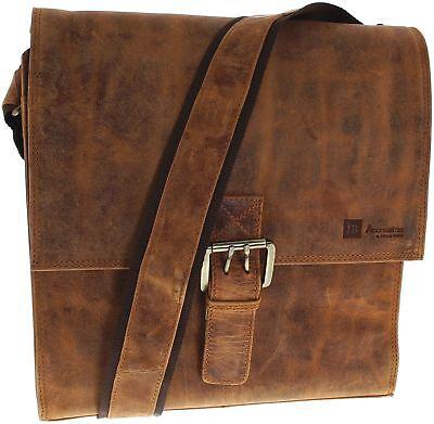 Fashion Boots FB Bags 1219 Distressed Red Messenger Bag Herren und Damen Braun ()