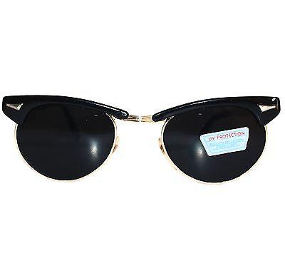 Stylische Sonnenbrille Vintage, black/gold - extra dark - RBC78