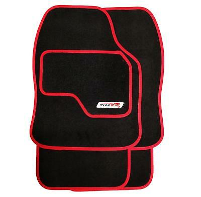Set Of 4 Luxury Red On Black Replacement Car Mats   All Carpet Protector