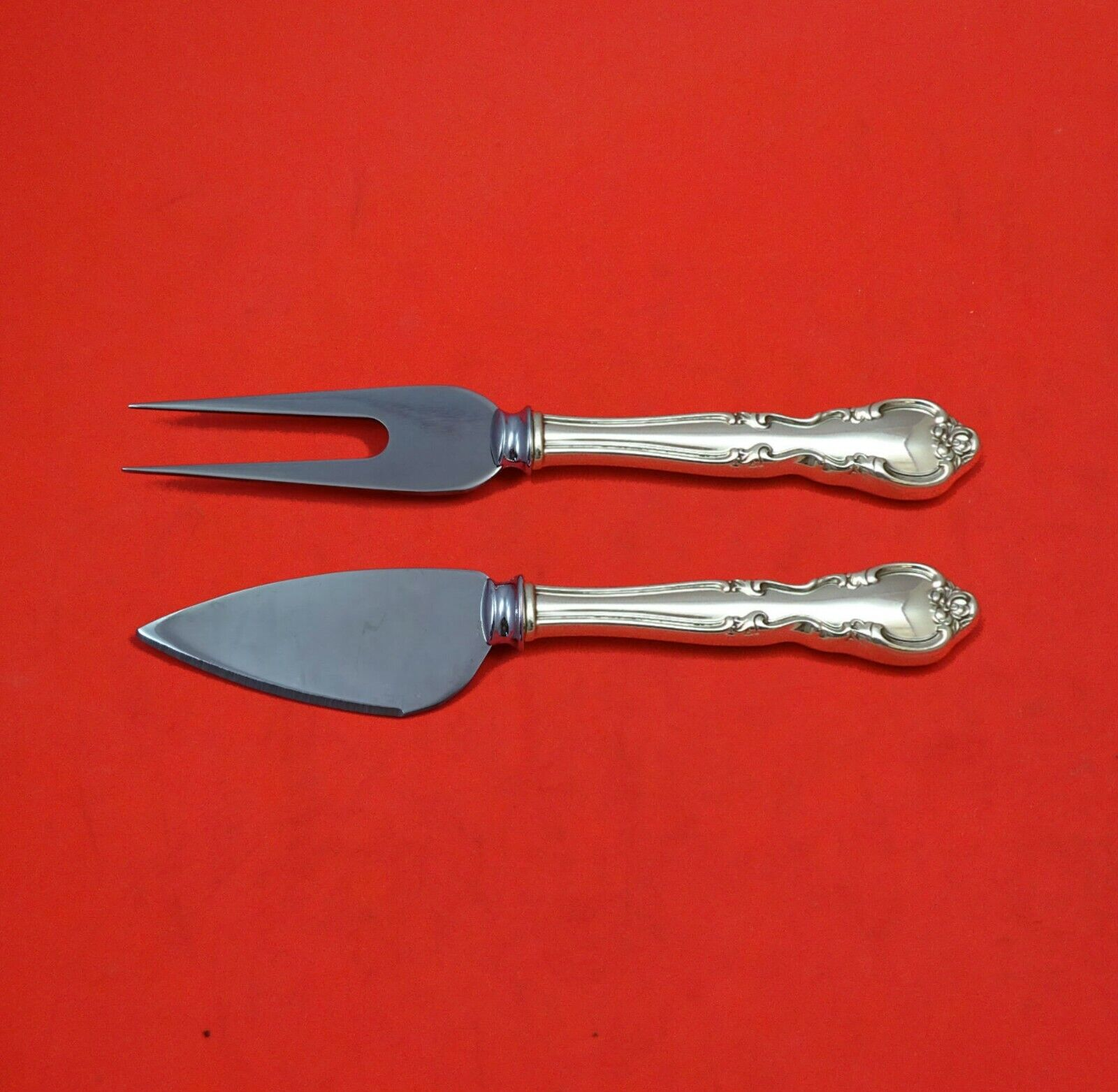 CLEAN EASTERLING AMERICAN CLASSIC 2 PC Carving Set Sterling Silver